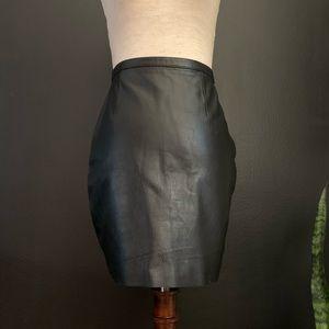 90's Leather Mini Skirt